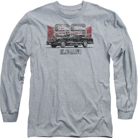 - Chevy Men's  El Camino Ss Mountains Long Sleeve Athletic Heather