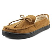 Isotoner Signature Moccasin Slippers Men  Moc Toe Synthetic Brown Slipper