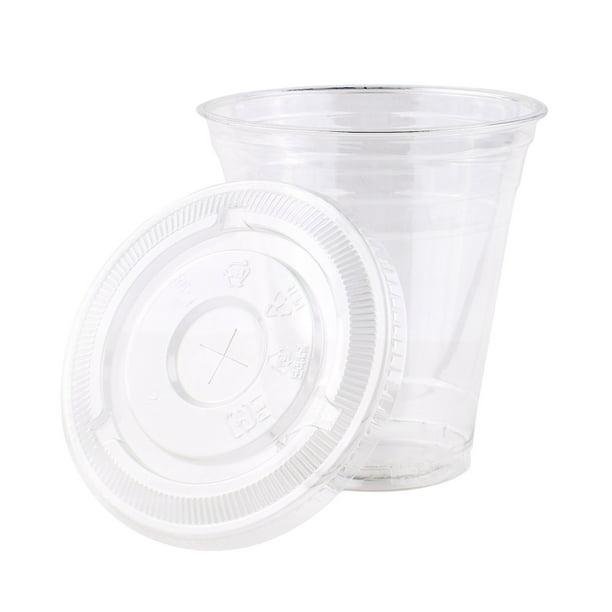 800 Sets Plastic Disposable Cups With Lids Premium 12 Oz Ounces Crystal Clear Pet For Cold