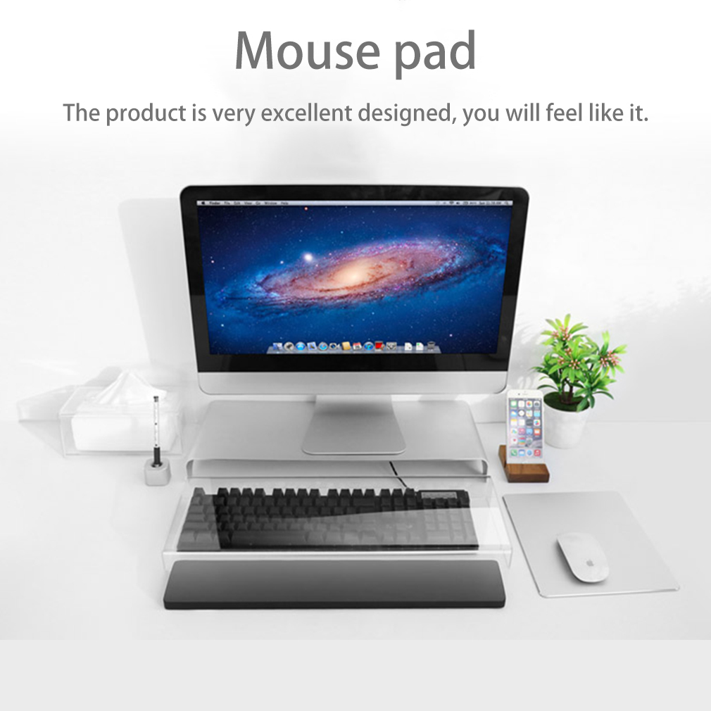 Mouse Pad, LESHP Gaming Aluminum Mouse Pad W Non-Slip Rubber Base & Micro Sand Blasting Aluminium Surface for Fast and Accurate Control (Silver)