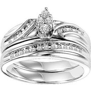 Forever Bride 1/4 Carat T.W. Diamond Bridal Set in Sterling Silver