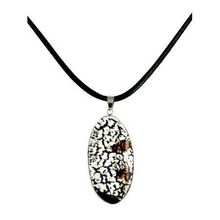 Fashion Jewelry Elegant Natural Agate Stone Pendant Chain Necklace