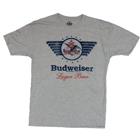 Budweiser Mens T-Shirt  - Winged Eagle A Lager Beer Image ()