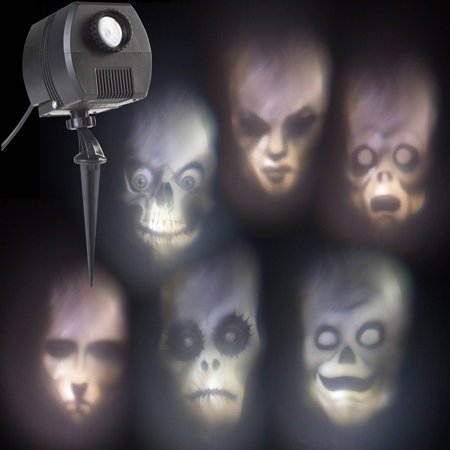Outdoor Animated Skulls Projection Lightshow Halloween Accessory - Halloween Shadow Projection