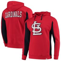 St. Louis Cardinals Fanatics Branded Team Logo Iconic Fleece Pullover Hoodie - Red/Navy