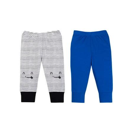 100% Organic Cotton Novelty Knit Pants, 2-pack (Baby Boys)