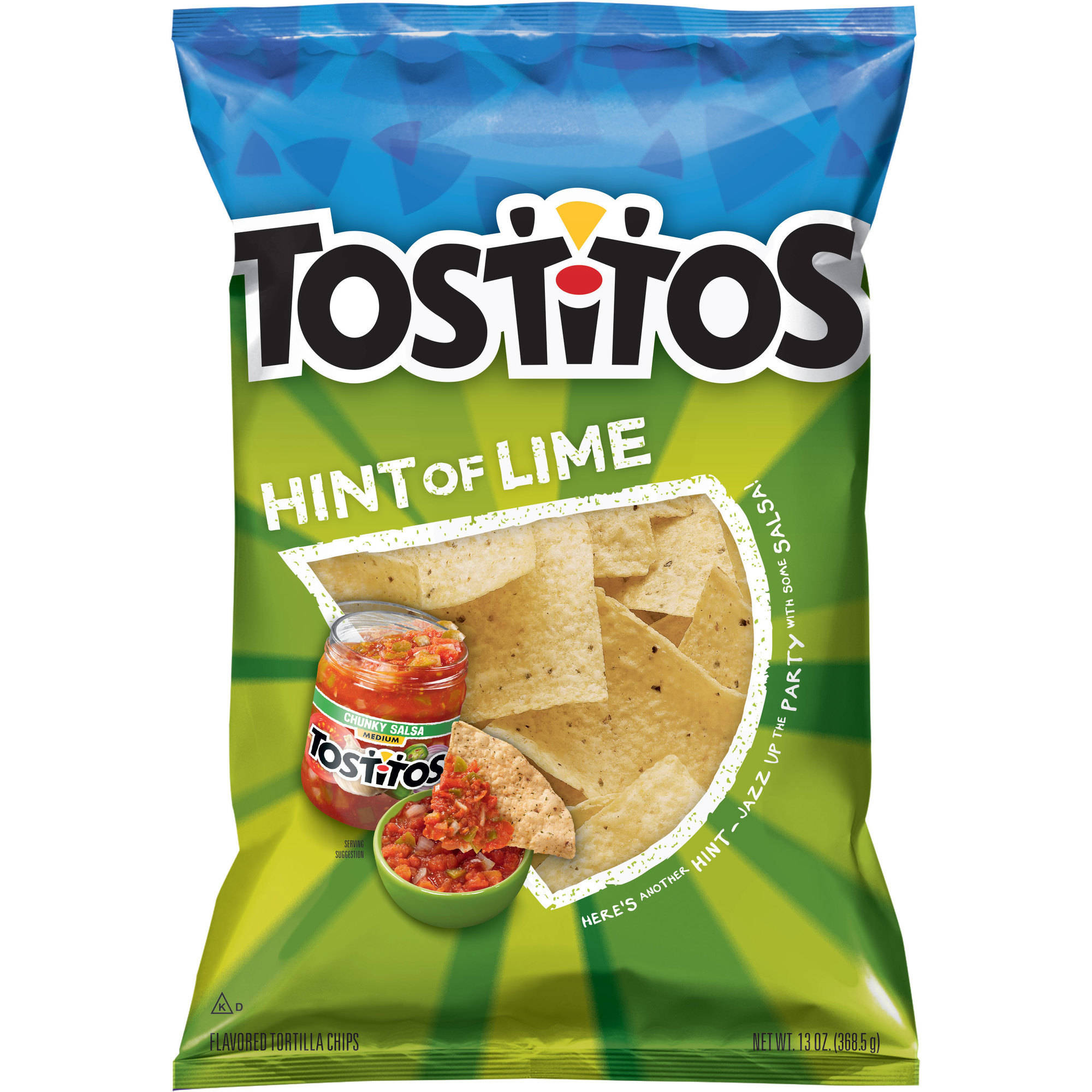 Tostitos Hint of Lime Flavored Tortilla Chips, 13 oz.