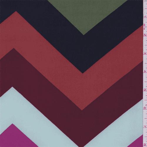 ITY Green Multi Chevron Jersey Knit, Fabric By the Yard