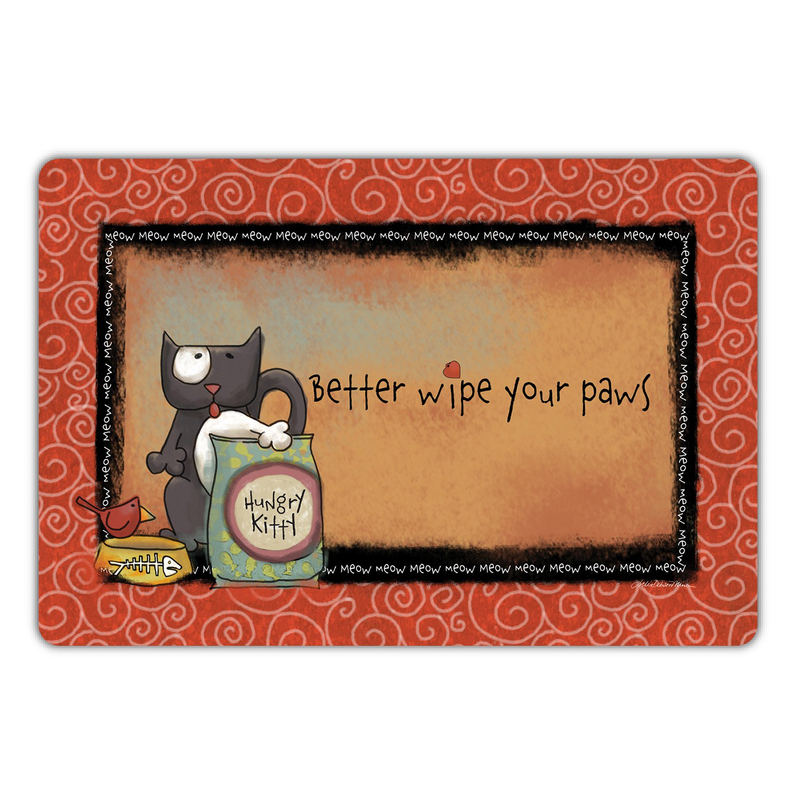 Drymate Cat Collection Welcome Mat - Hungry Kitty