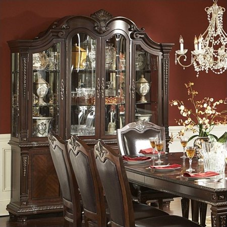 Homelegance Place Buffet Hutch Rich Brown