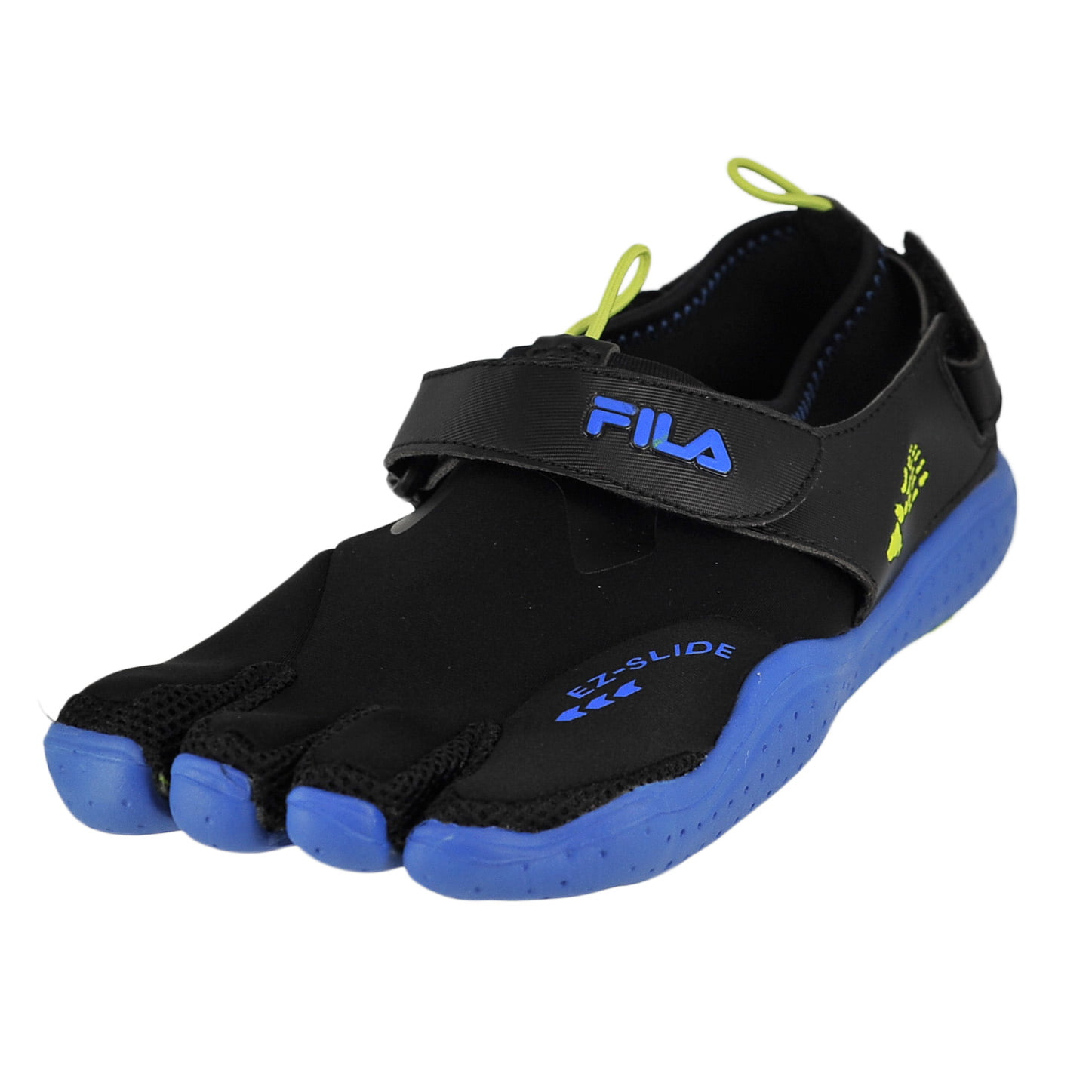 Fila Skele-Toes Ez Slide Drainage Black/Limepunch/Blue Mens Water Sports Size 10M