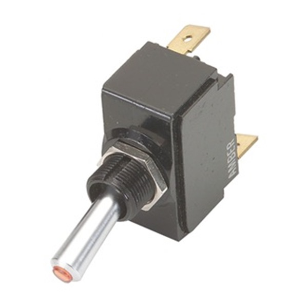 Toggle Switch,DPST,10A @ 250V,QuikConnct CARLING TECHNOLOGIES 2GK721-D-4B-B