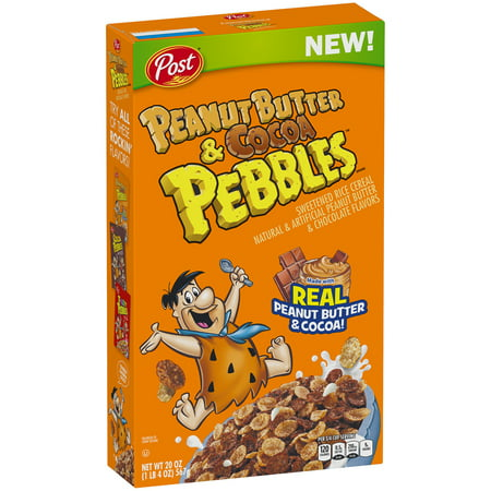(2 Pack) Post Peanut Butter & Cocoa Pebbles Breakfast Cereal, 20