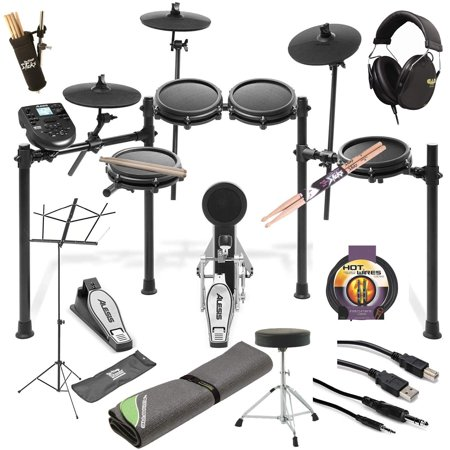 Alesis Nitro Mesh Electronic Drum Set Essentials Top Value Bundle (Alesis Audio Mixer)