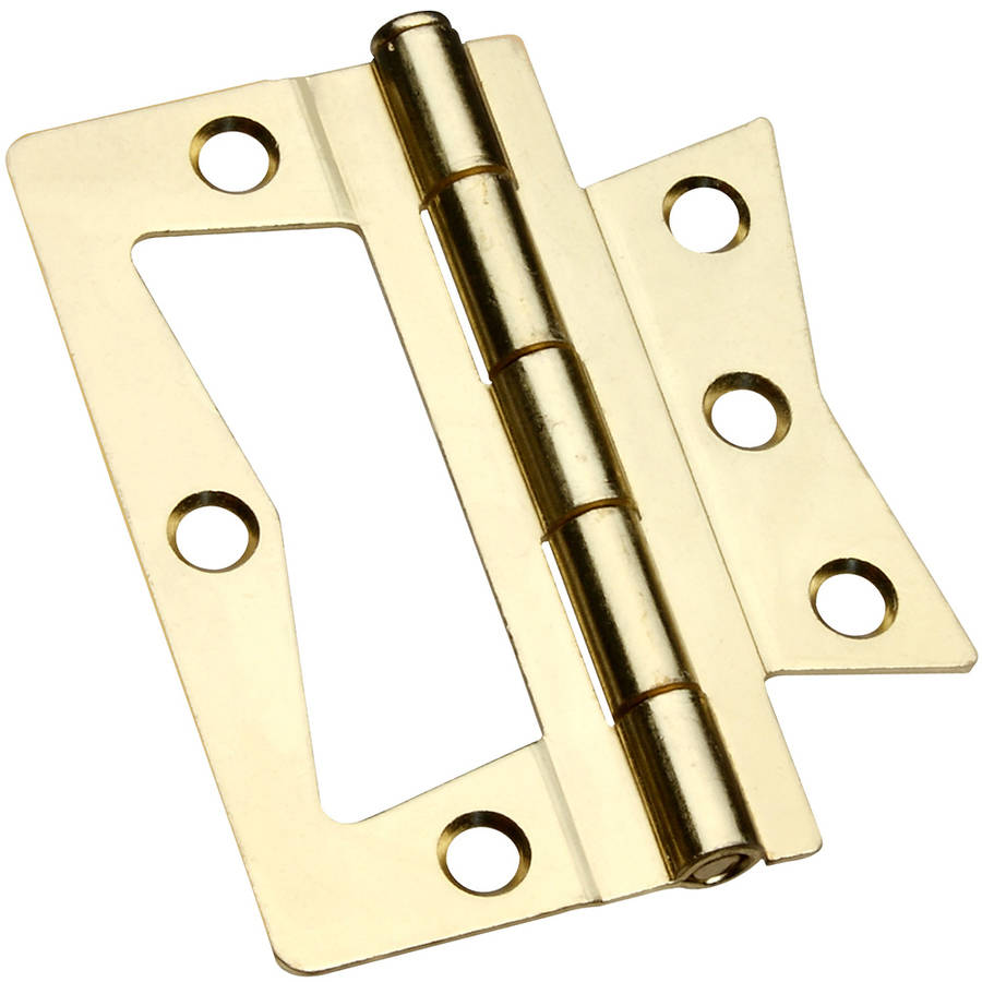 "Stanley Hardware 460815 3"" Bright Brass Non Mortise Square Corner Hinge"