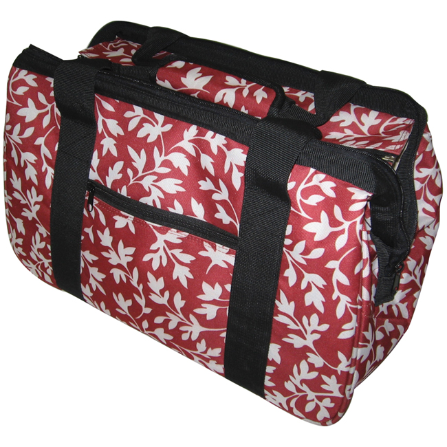 "JanetBasket Red Floral Eco Bag, 18"" x 10"" x 12"""