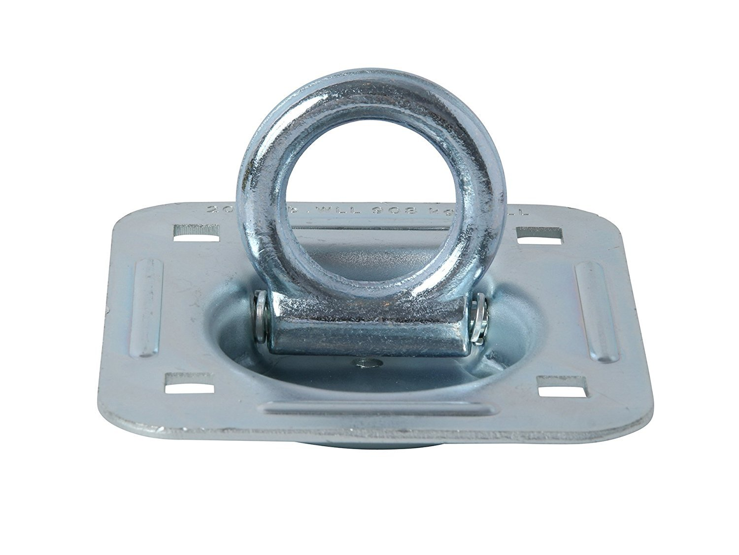 Heavy Duty Tiedown D-Ring to Secure Cargo in Semis D Ring Tie-Down Anchor Trailers Flatbeds Large Rotating Recessed Pan Fitting with D-Ring That Swivels 360 Degrees WLL 1,666 Pounds