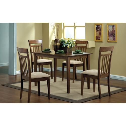 Beau Monarch Dining Set 5Pcs Set / Walnut Finish