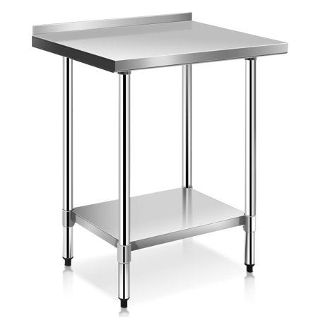 3084 Work Table Backsplash - Costway 24'' x 30'' Stainless Steel Work Prep Table with Backsplash Kitchen Restaurant