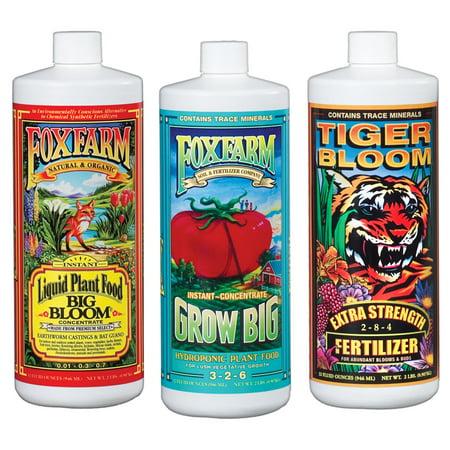 FoxFarm Hydro Formula Nutrients Trio 3 Quarts Liquid Plant Fertilizers | (Best Hydro Nutrients For Weed)