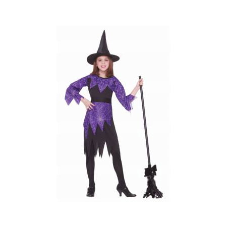 CHCO-SPIDER WITCH-MEDIUM - Kids Spider Halloween Costume