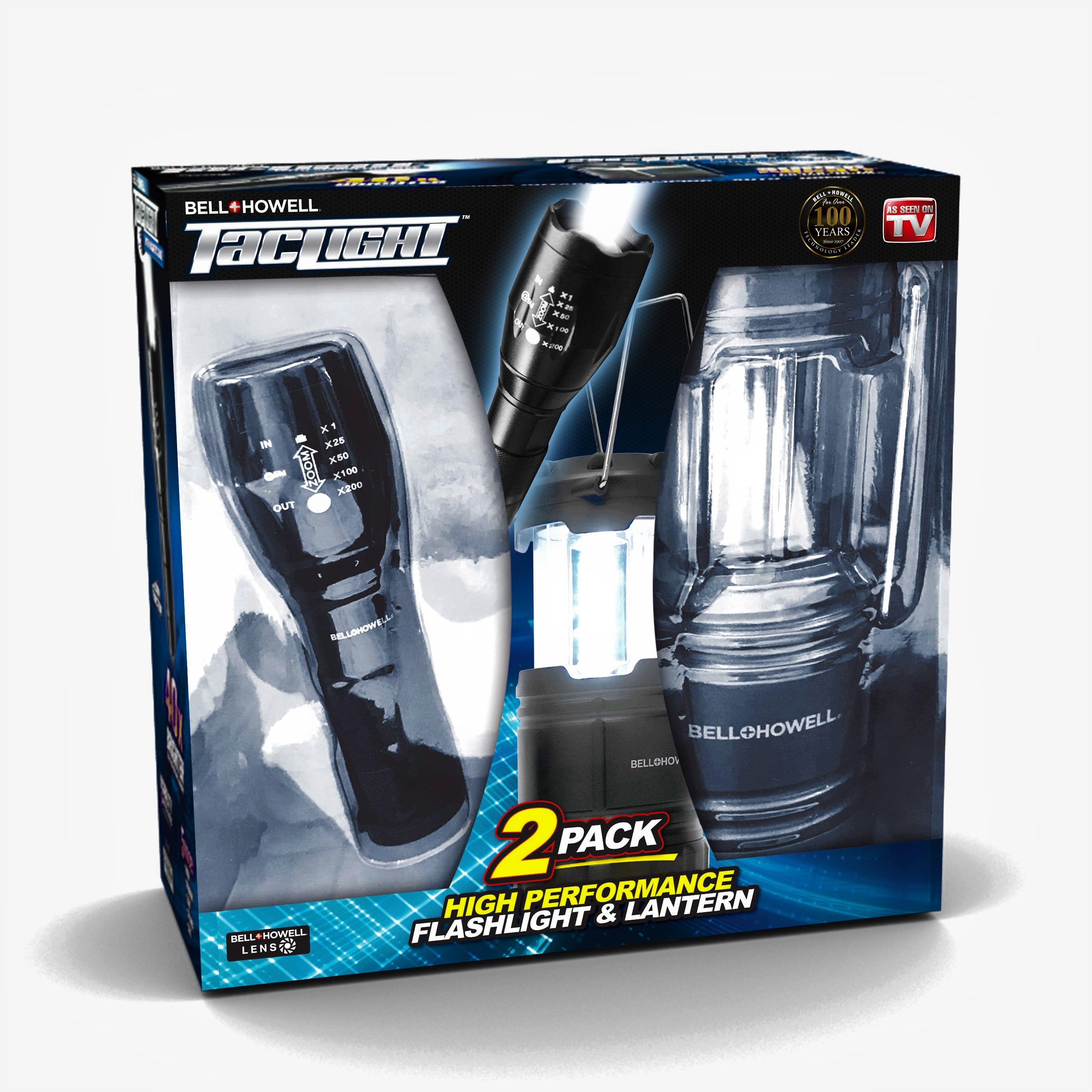 Bell + Howell Taclight Flashlight and Lantern Ultimate Camping Bundle – As Seen on TV!