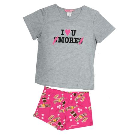 Girls' I love you Smores' 2-piece Pajama Sleep Set (Little Girl & Big (Little Sleep Machine)