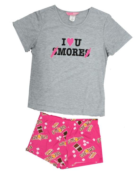 Girls' I love you Smores' 2-piece Pajama Sleep Set (Little Girl & Big Girl)
