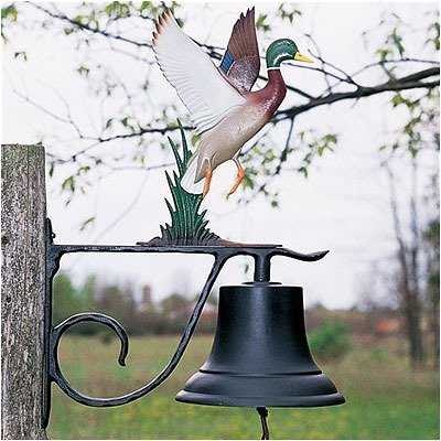 Large Bell with Duck - Black