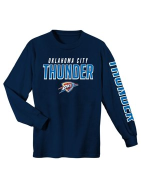 Youth Navy Oklahoma City Thunder Team Wordmark Long Sleeve T-Shirt