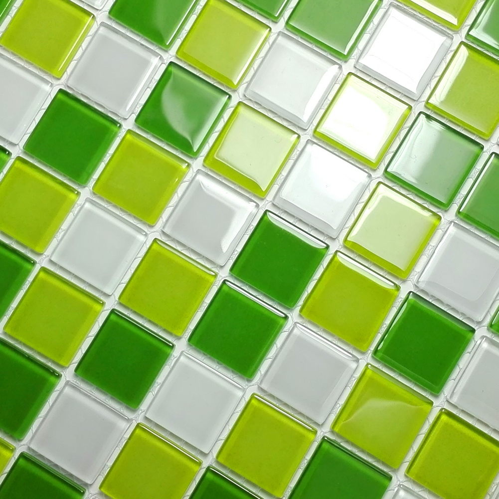 Fresh Green - 3-Dimensional Mosaic Decorative Wall Tile(6PC)
