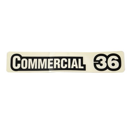 OEM Commercial 36 Decal 36