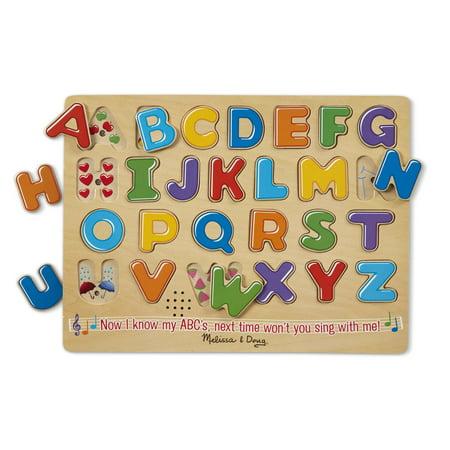 Melissa & Doug 26-Pieces Alphabet Sound Puzzle