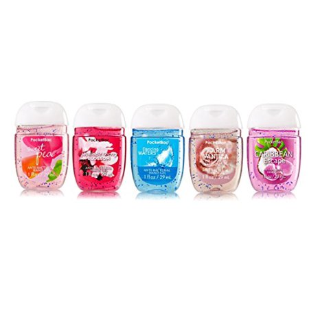 Care Instant Antibacterial Hand Gel (Bath & Body Works - 'Classic Faves' Pocketbac Bundle of 5 Antibacterial Hand Sanitizer Gels)