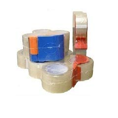 """2"""" x 55 Yards Clear Carton Sealing Tape, Packing and Shipping, 2 Mil Thick, Pack of 4 Rolls + Free 2-Inch Dispenser"""