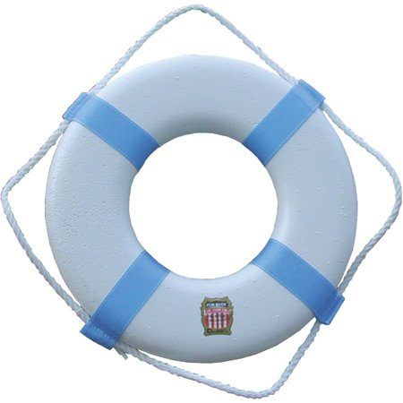 Jim-Buoy Swimming Pool and Decorative Life Ring White