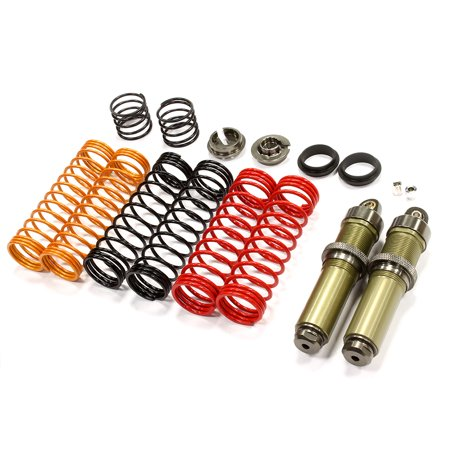 Integy RC Toy Model Hop-ups T6710GUN Big Bore Threaded Shock Body (2) Kit w/ Springs for HPI Savage Flux & X 4.6 2011 (Savage Body)