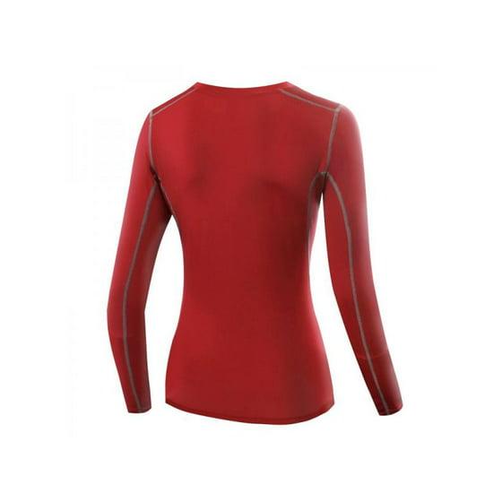 43685c30a97 Ropalia - Ropalia Women Compression Tops Long Sleeve Yoga Tight Tops ...