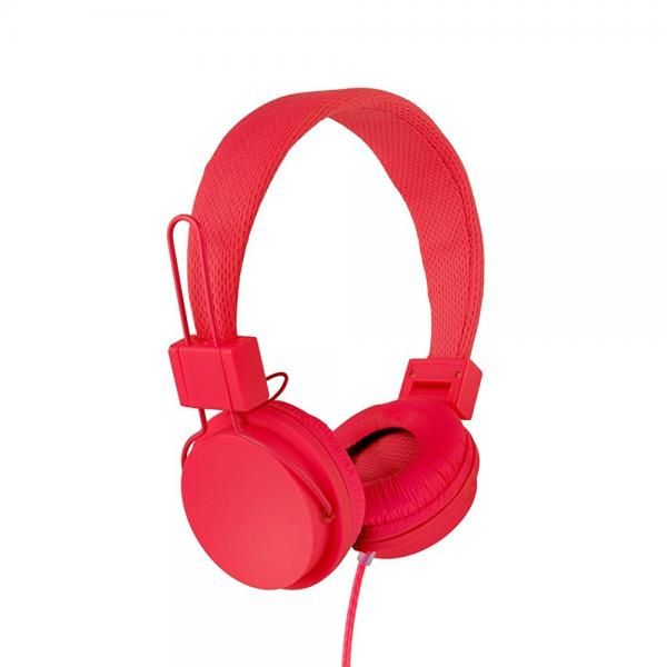 Vivitar VIV-1052-RED Foldable Dj Mixer Headphones, Red