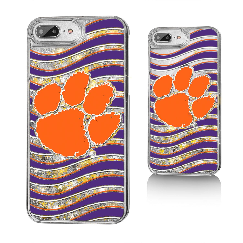 CU Clemson Tigers Wave Glitter Case for iPhone 8 Plus / 7 Plus / 6 Plus