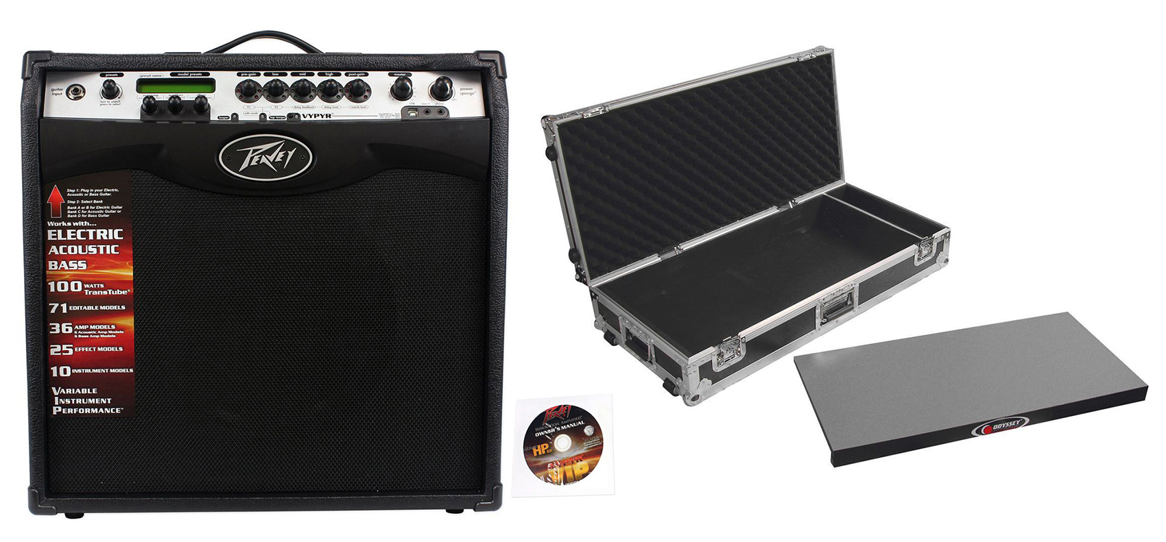 "Click here to buy Peavey Vypyr VIP 3 100 Watt 12"" Combo Guitar Amp w  Amp Modelling + Pedal Case by Peavey."