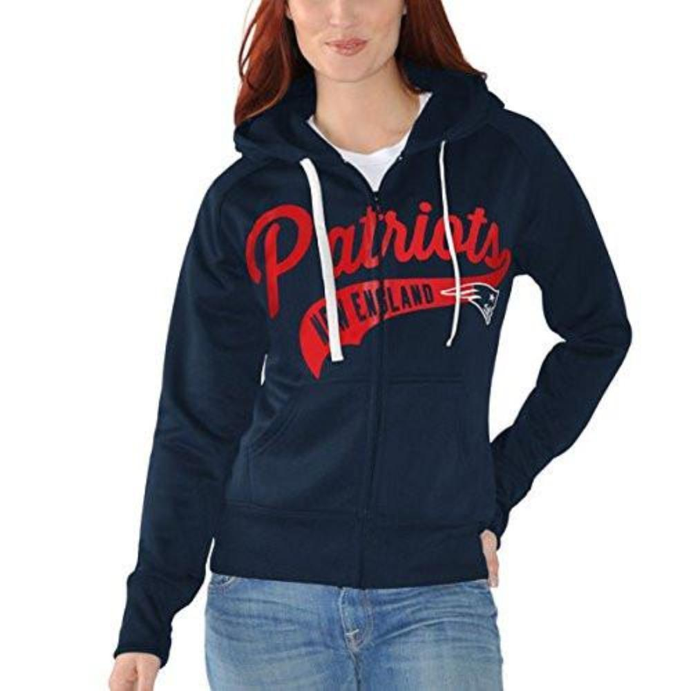 New England Patriots Navy Game Day Full-Zip Hoody