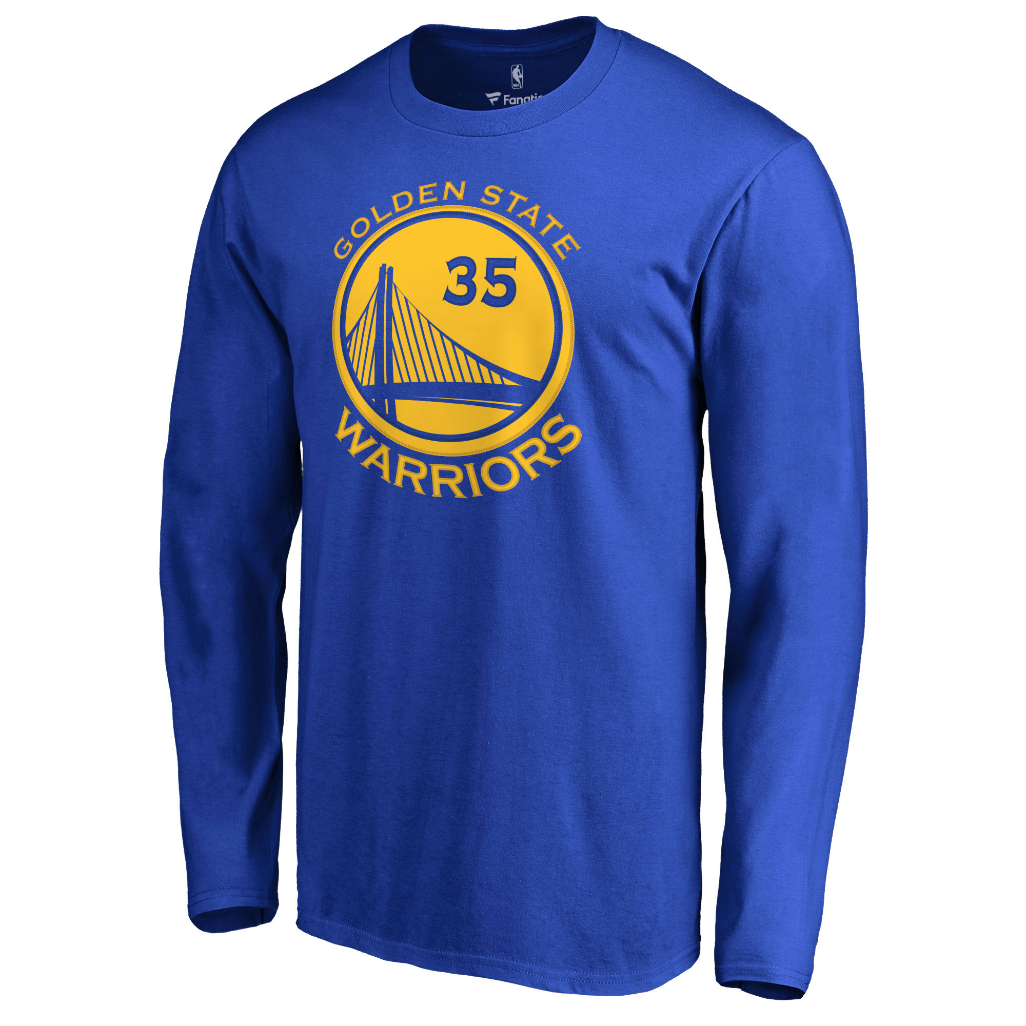 29d22534 Kevin Durant Golden State Warriors Fanatics Branded Backer Name & Number  Long Sleeve T-Shirt - Royal