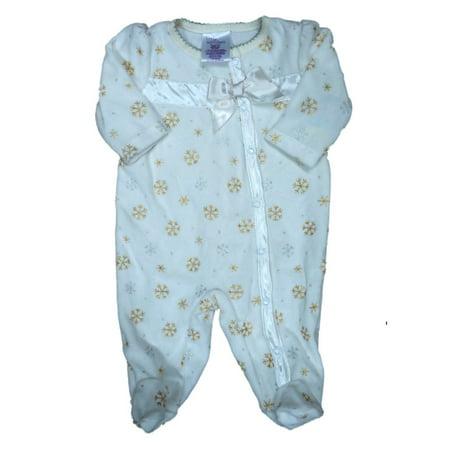 e385d7c6ade5 Little Wonders - Infant Girls Ivory   Gold Velour Snowflake Blanket ...