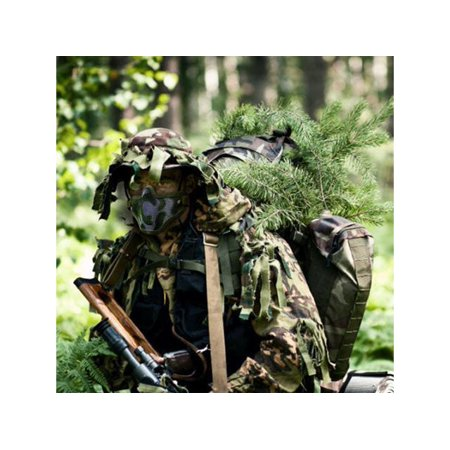 Paintball Hunting Tactical Strike Protective Mask Half Face Military Mesh Jungle Camouflage (Anonymous Paintball Mask)