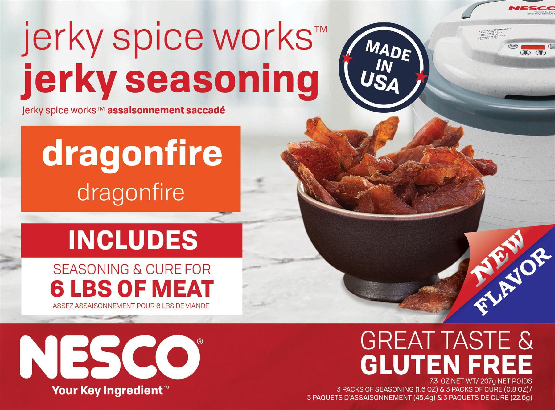 BJDF-6 Jerky Spice Works Dragonfire Flavor Beef Jerky Seasoning By Nesco