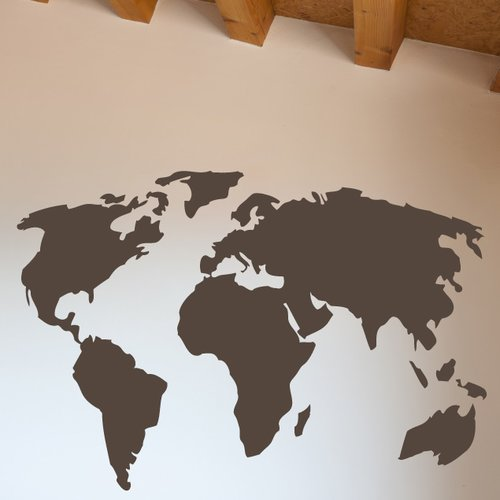 The Decal Guru World Map Wall Decal