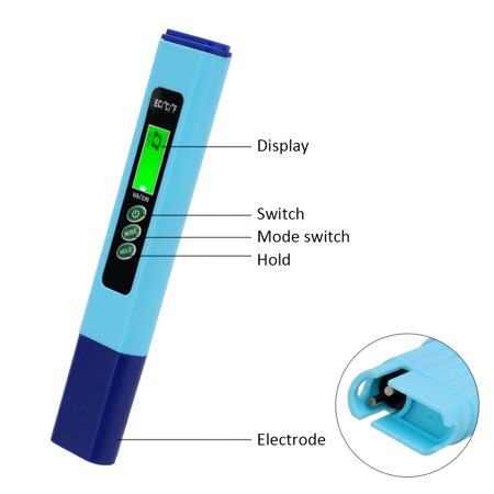 2 in 1 Multifunctional High Accuracy Digital Mini Water Quality Test Pen LCD Display - image 4 of 7