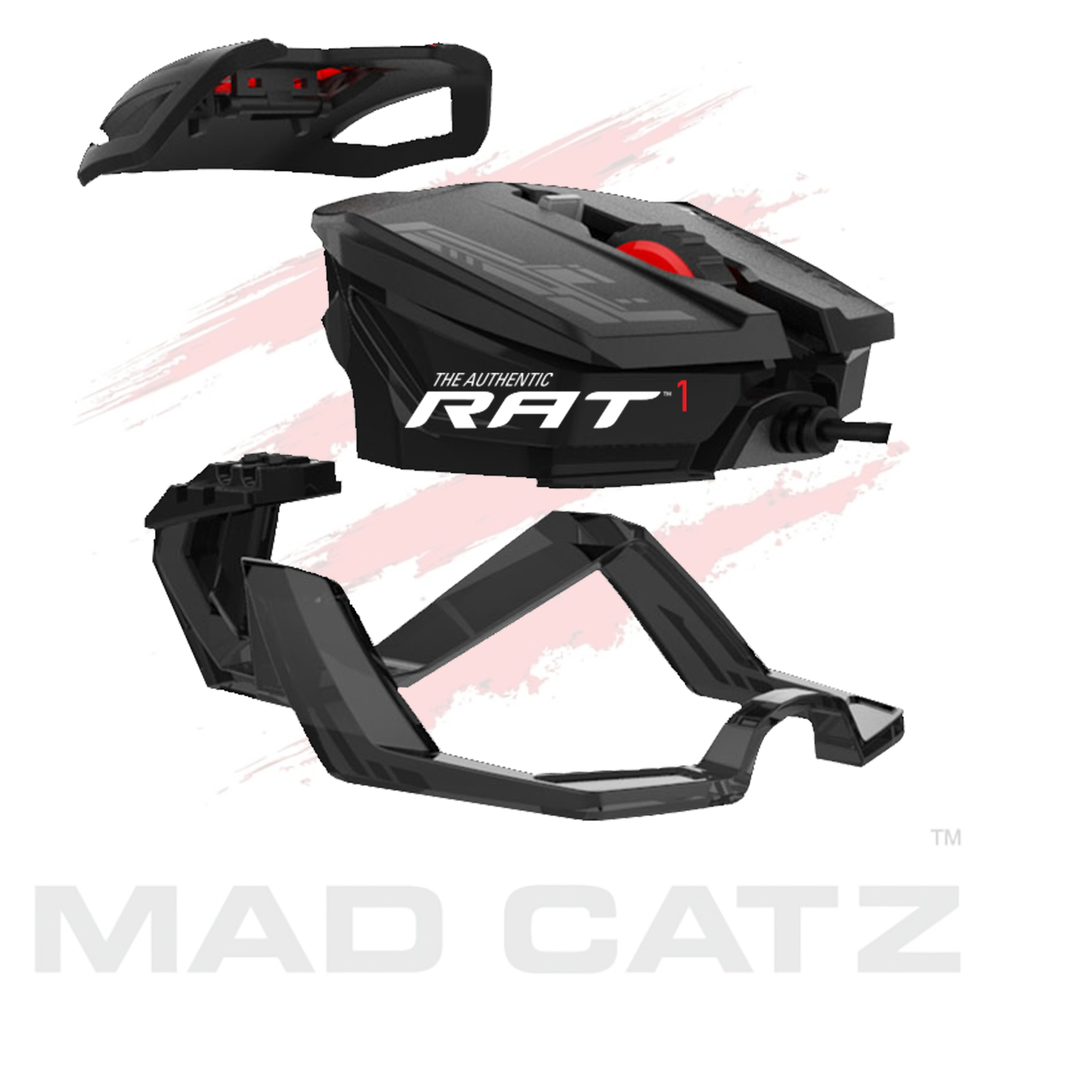Mad Catz RAT 1 Wired USB Gaming Mouse, Black