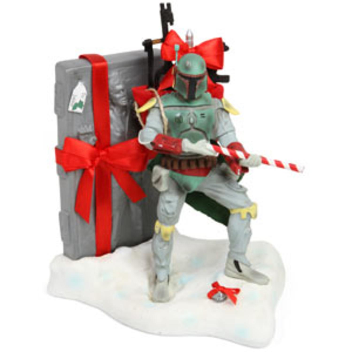 """7.5"""" Fabriché Star Wars Boba Fett with Han Solo Christmas Table Top Figure"""